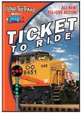 I Love Toy Trains TICKET TO RIDE DVD NEW Illinois Railway Museum Taltree garden