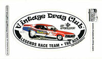 Drag Racing NHRA Sticker Decal Ed The Ace McCulloch, oval