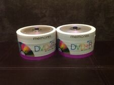 Memorex DVD-R TWO-(50 Pack) 16X4.7 gb 120 min . Wrapped never opened.