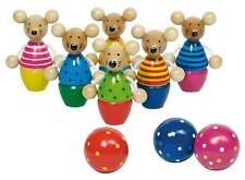 Goki Kegelspiel Speedy Mäuse 56943 Holzkegelspiel Kinder  - neu - OVP