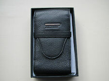 Piquadro Modus black nappa leather three-pen case-pouch AC872MO/N