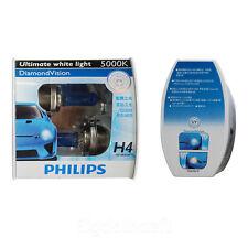 New Philips 5000K Diamond Vision H4 Xenon HID Look Head Light Bulbs Pair
