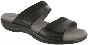 SAS Nudu Slide Sandal Midnight Black 5 Wide Women's Shoes FREE SHIPPING New