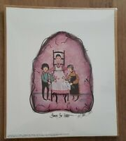 """P. Buckley Moss Limited Ed Hand Signed Print """"FLOWERS FOR MOTHER"""" 1992 #748/1000"""