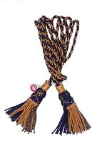 Highland Bagpipes Silk Drone Cord Golden Navy Blue/Scottish Bagpipe Drones Cords