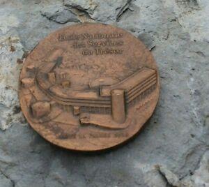médaille bronze  école nationale des services du trésor ( signé s. buxin )