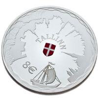 Estland Silbermünze 8 euro 2017 Hansestadt Tallinn, Estonia proof silver coin