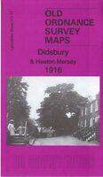 OLD ORDNANCE SURVEY MAP DIDSBURY HEATON MERSEY 1916 MANCHESTER BARLOW MOOR