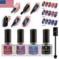 5Pcs/Set BORN PRETTY Magnetic Nail Polish Holographic Chameleon Black Varnishs