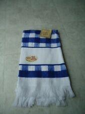 Crafters Pride White 14 Ct. Aida Border Blue Checkerboard Hand Towel