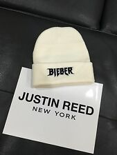 Justin Bieber Purpose tour x Merchandise RARE white beanie hat - One Size