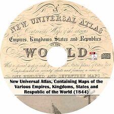 1844 Henry Schenck H.S. Tanner's Universal Atlas - Maps on Cd