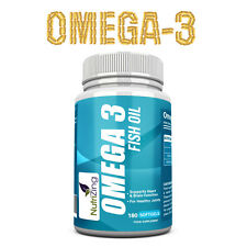 NutriZing's Omega-3 Supplement~2000mg, 660 EPA 440 DHA per serve-180 soft gels