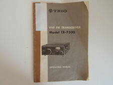 KENWOOD (TRIO) TR-7500 (GENUINE INSTRUCTION MANUAL ONLY)..RADIO_TRADER_IRELAND.