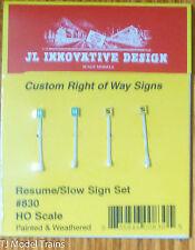 JL Innovative Design #830 Custom Railroad Right-of-Way Signs -- Resume Speed/Slo