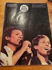 Simon and Garfunkel Concert In Central Park Guitar Tablature Chord Book Warner