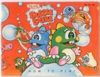 Bubble Bobble Original Nintendo NES Manual
