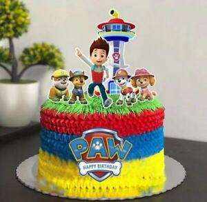 7PCS Paw Patrol Cake Topper Birthday Party Decoration