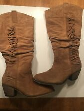 Ladies Size 9 Leather Suede Fringe Boot 7 EU