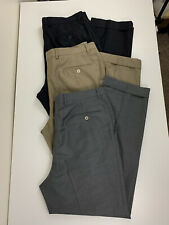 Santorelli Italy Como 2 Dress Slacks Men Size 36x30 LOT of 3 Pairs Grey Tan Navy