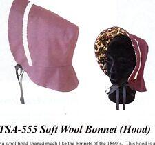 1800's SOFT WOOL BONNET (HOOD) Timeless Stitches TSA-555