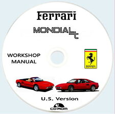 FERRARI Mondial T,Technical Manual U.S Version 1989/93