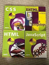 Brand New JavaScript XHTML HTML CSS Books - Mike McGrath