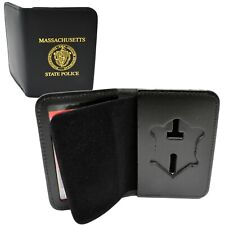 Massachusetts State Police Officer Badge Case ID Wallet Mass Imprint MSP MA