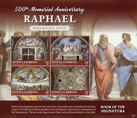 Antigua & Barbuda Art Stamps 2020 MNH Raphael Renaissance Paintings 4v M/S