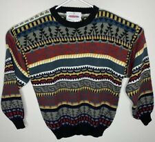 Vintage OBERMEYER Southwestern Aztec Nordic Denali Sweater 90s Bright Sz Medium