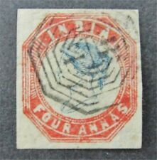nystamps British India Stamp # 6 Used $500