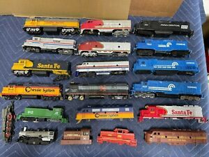 Huge lot Vintage HO Train Lot-Engines  Parts-Preowned USED For parts or repair