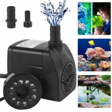Elektrisch LED Wasserspielpumpe Teichpumpe Springbrunnen für Aquarium Brunnen
