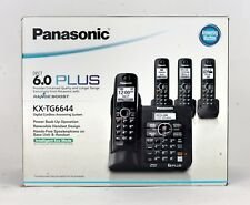 Panasonic KX-TG6644B Expandable Digital Cordless Answering System with 4 handset