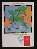 NIEDERLANDE MK 1959 EUROPA CEPT MAXIMUMKARTE CARTE MAXIMUM CARD MC CM c6581