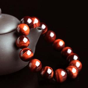 5A grade natural red tiger eye bracelet South African tiger eye Bracelet 6-12mm