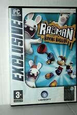 RAYMAN RAVING RABBIDS GIOCO USATO BUONO STATO PC DVD VERSIONE ITALIANA GD1 41603