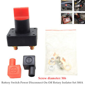 300A M6 Battery Switch Car Van Truck Boat Power On Off Rotary Isolator Set Kit