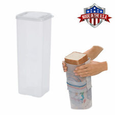 Bread Keeper Holder Dispenser Travel Sandwich Bread Box Crush-Proof Container