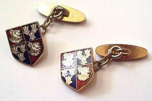 Corpus Christi College - Cambridge Uni - heraldic cufflinks - enamelled - MP