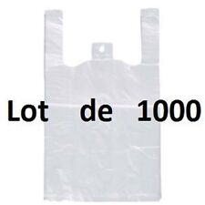 LOT DE SAC D EMBALLAGE 1000 SACS BRETELLE PLASTIQUE 250+ 6 X 450 12 microns