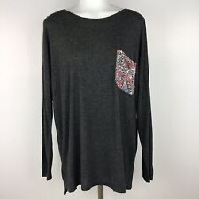 Abercrombie & Fitch M/L Pocket Tee Gray