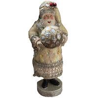 "Katherine Collection Sparkle Glitter Santa W Ornament Large 20"" Horchow $400"