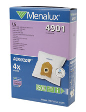 Menalux 4901 Synthetic vacuum bags  - pack of 4 + 1 motor filter - suit LG, NEW
