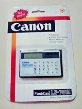 Canon Flash Card Ls-701h Vintage Solar Calculator Old Stock