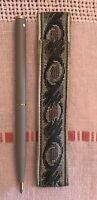 Vintage Sheaffer Ladies White Dot Ballpoint Pen w Tapestry Case - Matte Finish