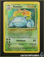 Venusaur - 15/102 Base Set Unlimited - LP/VG - Pokemon WOTC Vintage **SEE PICS**