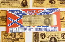 American Civil War Confederate Battle Set Replica  Money Parchment Banknotes