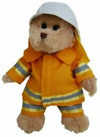 TIC TOC TEDDY FIREMAN PHIL BEAR JOINTED BEAR IN FIRE MANS OUTFIT