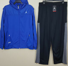 NIKE AIR JORDAN CP3 SWEATSUIT HOODIE + PANTS ROYAL BLUE BLACK RARE (SIZE 2XL)